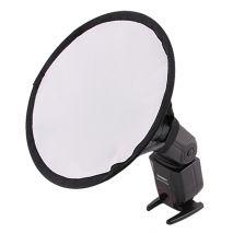 Mini softbox diffuser circular pentru blitzuri speedlite Canon Nikon Sony Yongnuo Shanny etc.