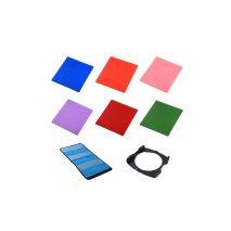 Kit 6 filtre + holder Commlite Conversion compatibile Cokin P
