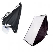 Softbox 50x70cm fasung E27 incorporat