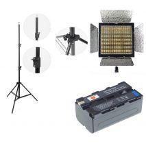 Kit lumina continua Lampa Yongnuo YN600L II+ 2x Acumulatori Dste NP F+ incarcator+ stativ
