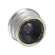 Obiectiv manual 7Artisans 25mm F1.8 gri pentru FujiFilm FX-mount