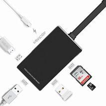 Adaptor C-Type USB 3.0 , 4K HDMI HD, port USB 3.0, slot SD pentru MacBook YC-210