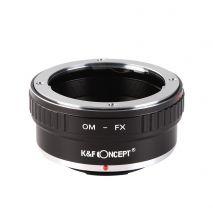 K&F Concept OM-FX adaptor montura Olympus OM la Fuji X-Mount