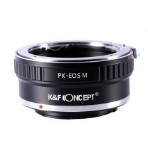 K&F Concept PK-EOS M adaptor montura de la Pentax K la Canon EOS M