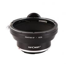 K&F Concept Pentax 67-EOS adaptor montura de la Pentax 67 la Canon EOS