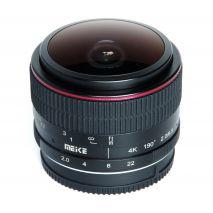 Obiectiv manual Meike 6.5mm F2.0  Fisheye pentru FujiFilm FX-mount