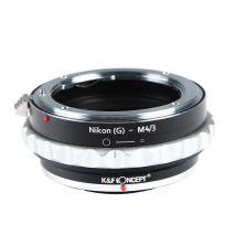 K&F Concept Nikon(G)-M4/3 II adaptor montura Nikon G-Micro 4/3 (MFT) KF.06.360