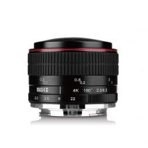 Obiectiv manual Meike 6.5mm F2.0 Fisheye pentru Canon EF-M mount