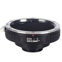 K&F Concept EOS-C adaptor montura de la Canon EOS/EF la C-mount KF06.313