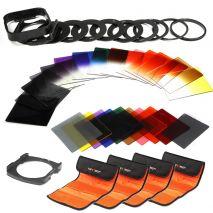 K&F Concept SKU0487 Kit filtre cokin + inele adaptoare + huse filtre + Holder cokin