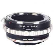 K&F Concept Nik(G)-EOS M adaptor montura de la Nikon G la Canon EOS M KF06.318