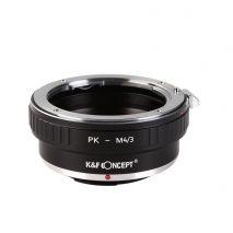 K&F Concept PK-M4/3 adaptor montura de la Pentax K la Micro 4/3-Mount(MFT) KF06.089