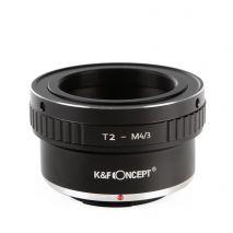 K&F Concept T2-M4/3 adaptor montura de la T2 la Micro 4/3-Mount(MFT) KF06.249