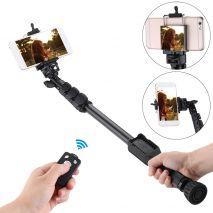 Yunteng VCT-388 selfie-stick cu suport pt telefon si telecomanda 47-137cm