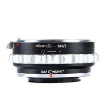 K&F Concept Nikon(G)-M4/3 adaptor montura Nikon G-Micro 4/3 (MFT) KF06.077