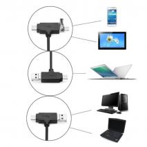 Adaptor C Type, USB 2.0, Card Reader, Micro-SD