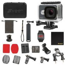 Camera de actiune SHOOT 14MP cu telecomanda WIFI 2.4G si set de accesorii, GP436