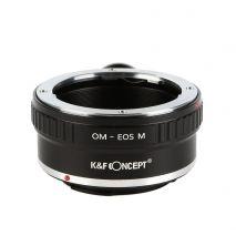 K&F Concept OM-EOS M  adaptor montura Olympus la Canon EOS M cu adaptor trepied KF06.290