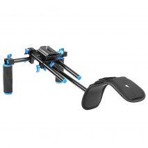 Suport de filmare pentru DSLR Rig cu sine 15mm si suport pentru umar