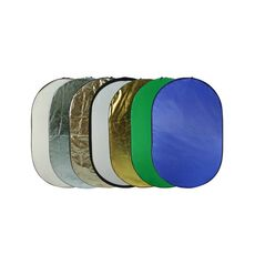 Blenda ovala 7in1 gold silver difuzie alb sunfire albastru verde 90x120cm