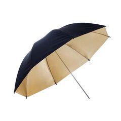 Umbrela gold - black 109cm
