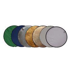 Blenda rotunda 7in1 gold silver difuzie alb sunfire albastru verde 110cm