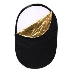 Blenda cu manere reflexie-difuzie 5 in 1 difuzie gold silver negru alb ovala 60x90cm