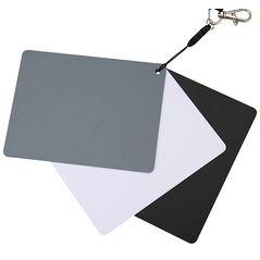 JJC GC-3 Gray Card 3 in 1 pentru setarea custom a balansului de alb