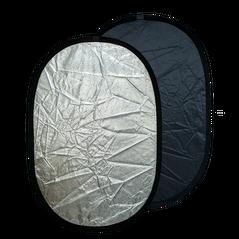 Blenda ovala 2in1 silver-black 90x120cm