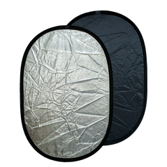 Blenda ovala 2in1 silver-black 60x90cm
