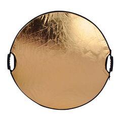 Blenda reflexie-difuzie 5 in 1 difuzie gold silver negru alb rotunda 110cm cu maner