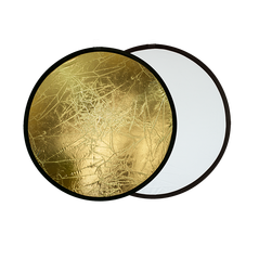 Blenda rotunda 2in1 white-gold 80cm