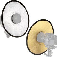 Blenda mini rotunda decupata 2in1 gold-silver 30cm