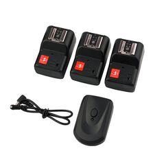 Kit Trigger + 3 Receivere 4 canale PT-04 Canon Nikon Pentax Olympus etc.