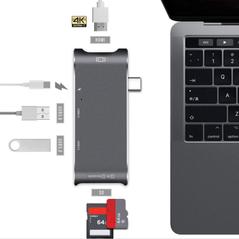 Adaptor USB 3.0 C Type, HDMI 4K, SD Card, MicroSD pentru MacBook Pro YC-204