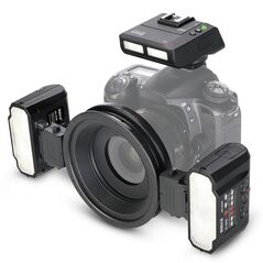Kit Macro Meike MK-MT24 1xTransceiver TTL 2x Blitz-uri Wireless pentru Nikon