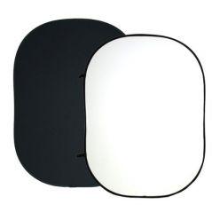 Fundal pliabil 150 x 200cm negru-alb