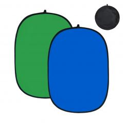 Fundal pliabil 150 x 200cm Chroma Key albastru-verde