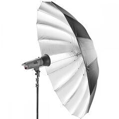 Umbrela studio reflexie silver - black 150cm - 16 spite