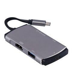 Adaptor USB 3.0 C Type YC-207 USB-C, HDMI 4K, SD Card, MicroSD pentru MacBook Pro