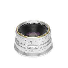 Obiectiv manual 7Artisans 25mm F1.8 gri pentru Olympus si Panasonic MFT M4/3-mount