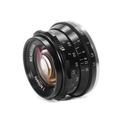 Obiectiv manual 7Artisans 35mm F1.2 negru pentru Olympus si Panasonic MFT M4/3-mount