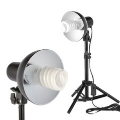 Kit lumina continua lampa E27, mini stativ 30 - 48cm, bec 35W