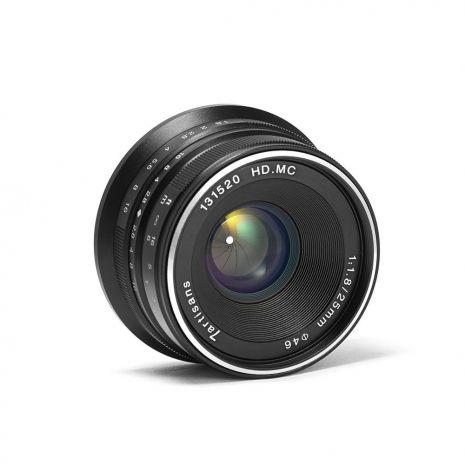 Obiectiv manual 7Artisans 25mm F1.8 negru pentru Canon EOS-M