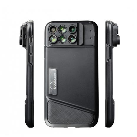 Kit 6 Lentile conversie Iboolo  cu carcasa pentru Iphone X