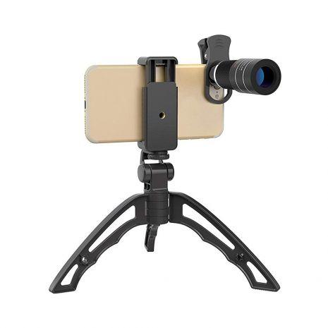 Lentila conversie  telescopica Apexel APL-T20XJJ04 20X cu mini trepied si suport pentru smartphone