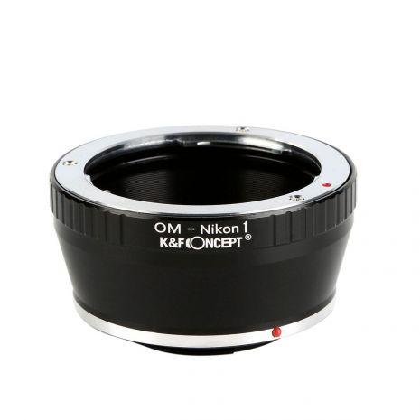 K&F Concept OM-Nikon1 adaptor montura de la Olympus OM la Nikon1 KF06.292