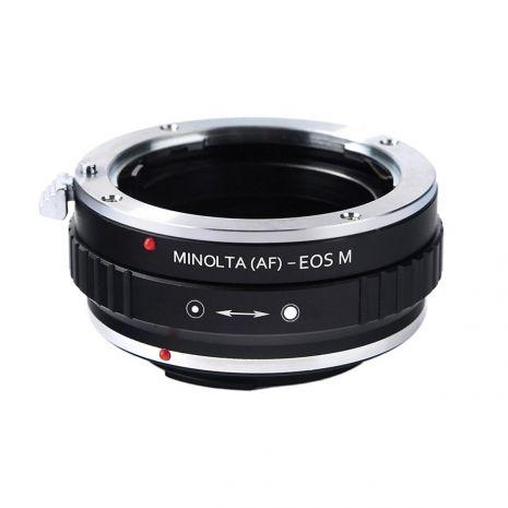 K&F Concept Minolta (AF)-EOS adaptor montura de la Minolta AF/Sony A la Canon EOS M KF06.158