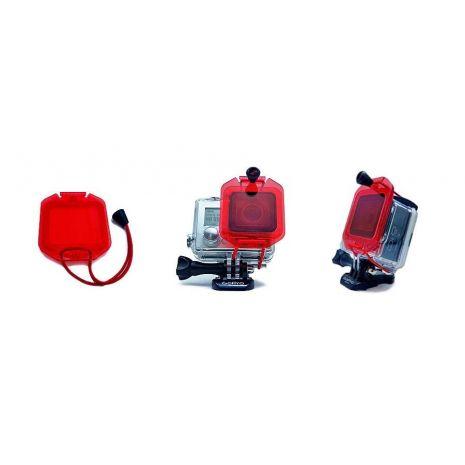 Filtru rosu cu prindere snur pentru GoPro Hero 3+ Hero 4 GP153