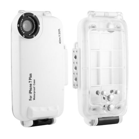 Carcasa subacvatica waterproof 40m compatibila iPhone 7 Plus,  iPhone 8 Plus